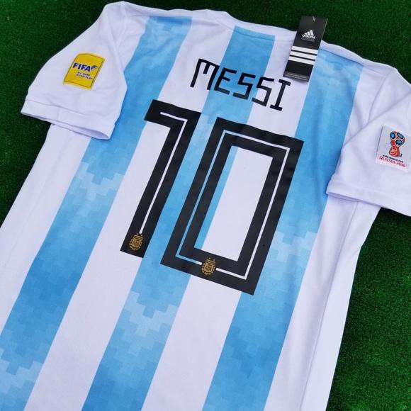 e183691e6fb 2018 Argentina home soccer jersey Messi